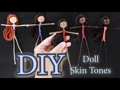 Knitting Loom Dolls, Diy Ooak Doll, Doll Videos, Fairy Crafts, Diy Holiday Gifts, Clothespin Dolls, Tiny Dolls, Doll Tutorial, Flower Fairies