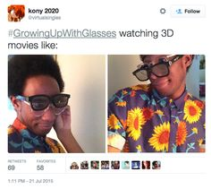 And all those moments you couldn't avoid the 3D showing… | 23 Terrible Memories Everyone Who Grew Up With Glasses Will Have