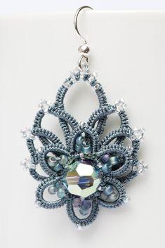 Frivolité à la navette: Je souffre d'un mal... Earrings  #tatting #jewelry