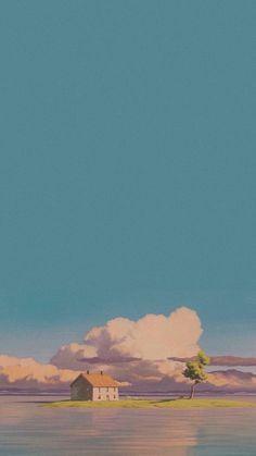c l r x x i — anime scenery from Studio Ghibli 😍 // lockscreens...