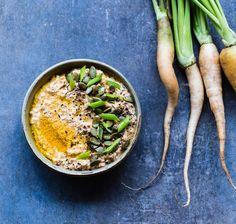 Recette de tartinade aux carottes rôties, cumin, harissa et beurre d'amande