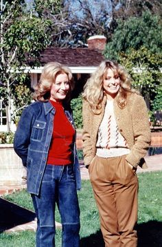 Farrah Fawcett and her mother