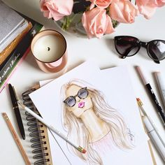 Fabulous Doodles Fashion Illustration blog by Brooke Hagel: Sunglass Hut Custom…