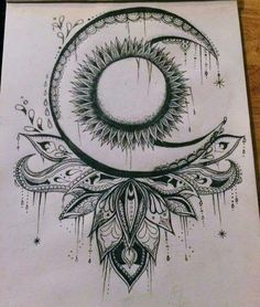 how to draw designs Tattoo Tribal, Tatoo Art, Mandala Tattoo, Body Art Tattoos, Tattoo Drawings, New Tattoos, Art Drawings, Tattoos Skull, Tattoo Mond