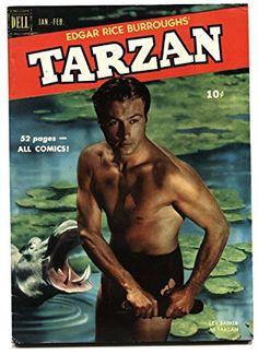 Tarzan 19 February 1951 Issue Dell Comics Grade by ViewObscura Lex Barker Tarzan, Baby Boomer Years, Tarzan Of The Apes, African Jungle, Nostalgia, Best Comic Books, Editorial, Read Comics, Comic Covers