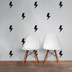 Lightning Bolt Wall Decal Pack Modern Geometric by DecalLab