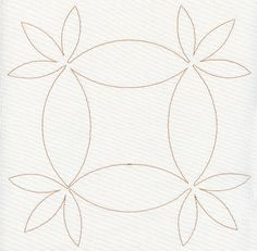 Blooming Around Quilting Square (Single Run) design (S2073) from www.Emblibrary.com