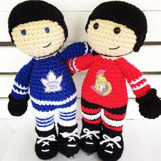THIS LISTING IS FOR THE PATTERN ONLY. Due to the nature of this item, no refunds will be given. Want to buy the finished product? Contact me to place a custom order, or check out the hockey dolls available in the shop! This pattern is an adorable hockey player for the sports fan in your life! The finished player works up to be about 10.5 in tall. This pattern is written in US terminology, and is recommended for intermediate skill level and above. This item is a pdf, which you download…