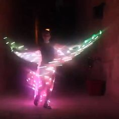 Showcase your creativity with this stunningly bright and one-of-a-kind costume which will undoubtedly impress your friends and family. Easy and simple to start glowing up the stage in no time! Simply pop in 3 AA batteries, tie it around you and just Led, Butterfly Costume, Butterfly Party, Rainbow Light, Energy Conservation, Dance Recital, And Just Like That, Simple Gifts, Kids Health