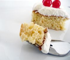 Just Like Pioneer Woman's Tres Leches Cake | This sponge cake recipe is so moist and airy. My dad always asks for it for his birthday party.