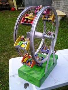 Bicycle Parts Art, Recycled Bike Parts, Bicycle Art, Bicycle Rims, Bicycle Decor, Bicycle Wheel, Farris Wheel, Old Cycle, Tyres Recycle