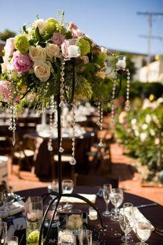 spring garden wedding centerpieces