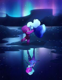 Ruby And Sapphire Dancing Create Garnet