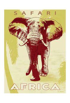 Safari Africa Prints by Kem Mcnair at AllPosters.com