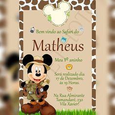 Safari Theme Birthday, Safari Party, Boy Birthday, Minnie Safari, Mickey Minnie Mouse, Mickey Party, Mouse Parties, Kids Events, Baby Party