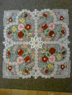 Very pretty. Hungarian Embroidery, Folk Embroidery, Learn Embroidery, Embroidery Patterns, Chain Stitch, Cross Stitch, Lace Art, Embroidery Techniques, Home Textile