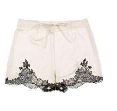 egerie silk satin shorts...
