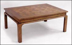 Oak Parquetry Cocktail Table : Lot 126-1087 #oak #antique #table #parquetry #cocktail
