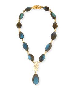 Sea+Leaf+Labradorite+Y-Drop+Necklace+by+Miseno+at+Neiman+Marcus.