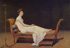 Jacques-Louis David,  Madame Récamier, 1800, olio su tela,dipinto a olio, 1,74 m x 2,24 m, Musée du Louvre di Parigi.