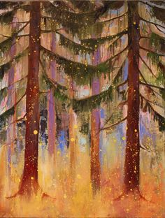 Guilded Forest oil on canvas