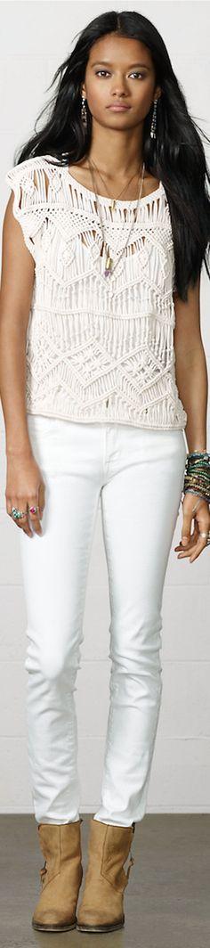 Ralph Lauren ● Denim & Supply Cotton Macramé Top