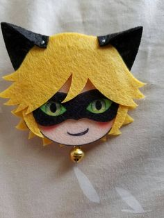 Felt Pins Miraculous Ladybug Chat Noir by TINYCRABAPPLES on Etsy
