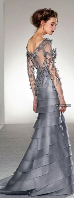 Georges Chakra Fall Winter 2013-14 Haute Couture | ♥ stoneware blue ♥) I can see me wearing this at my son's wedding!
