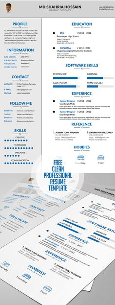 Here is my fresh new resume, showing skills, education and work - free resumes examples