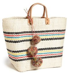 Eco friendly tote makes a perfect beach bag for the summer. Mar y Sol 'Caracas' Tote