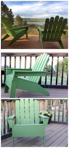 A simple and beautiful Adirondack Chair DIY Tutorial.