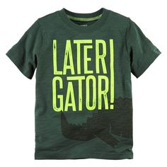 Toddler Boy Carter's Short Sleeve Sea Creature Graphic Tee, Size: 3T, Green Oth