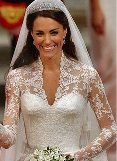 Um dos mais belos vestidos de noiva