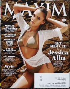 Jessica Alba,Bikini Sincity Babe,Maxim Magazine, September 2014 Celebrity News
