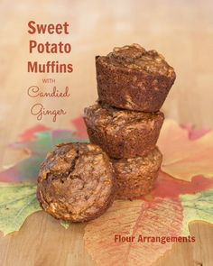 Sweet Potato Muffins with candied ginger