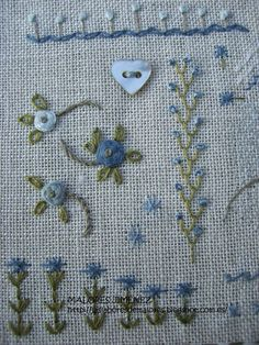 Shabby Chic Embroidery, Floral Embroidery Patterns, Hand Embroidery Flowers, Needlepoint Patterns, Hand Embroidery Videos, Embroidery Stitches Tutorial, Embroidery Transfers, Cross Stitch Embroidery, Quilt Stitching