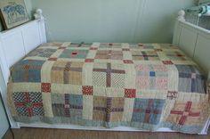Love this worn quilt, on eBay.