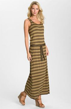MICHAEL Michael Kors Stripe Jersey Maxi Dress available at Nordstrom