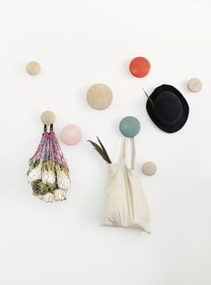 Buy The Dots Coat Hook from Muuto. The Muuto Dots Coat Hooks are produced from high quality wood. The Muuto Dot Coat hooks' sculptured design can be arr. Clothes Hanger Rack, Clothes Hooks, Hanger Hooks, Wall Hanger, Towel Hooks, Purse Hanger, Wooden Coat Hooks, Wood Hooks, Ideas