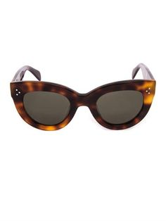 Celine. If you've never tried on a pair of celine sunglasses.. Put it on your to do list. The flatter almost every face shape