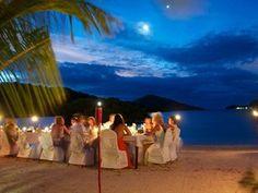 #Wedding reception on the #beach at #NavutuStars #YasawaIslands #Fiji #beachwedding