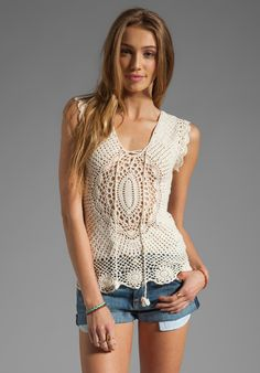 LISA MAREE First in Line Crochet Top in Cream at Revolve Clothing - Free Shipping!