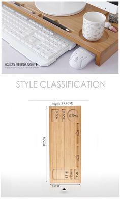 Smart Furniture, Home Furniture, Furniture Design, Wooden Desk Organizer, Desk Storage, Small Wood Projects, Creation Deco, Ideias Diy, Home Office Organization