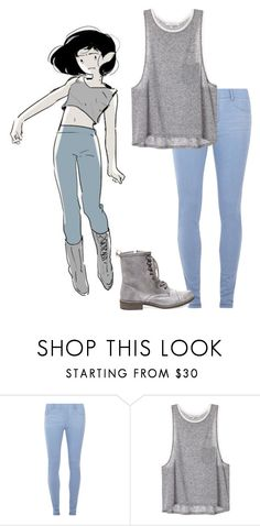"""""""Marceline The Vampire Queen ~ Adventure Time 2"""" by electricbalancekilljoy ❤ liked on Polyvore featuring Dorothy Perkins and Steve Madden"""