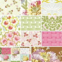 Olivia Collection by Anna Griffin #floral #pink #green #girly #fabric