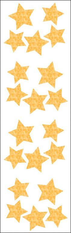 Mrs. Grossman's Stickers - Small Gold Stars