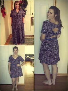 DIY back tie dress. So adorable! Repurpose Clothing Refashioning, Diy Clothing, Diy Fashion, Fashion Outfits, Fashion Details, Dress Makeover, Diy Dress, Tank Dress, Dress Tutorials