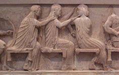 Friso del Tesoro de los Sifnios. 520-530 a.C. Época arcaica.