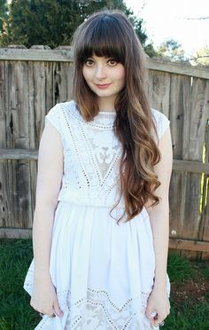 long long ombre hair! bangs
