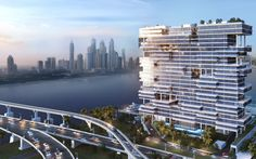 At AED102 Million, Dubai Penthouse Breaks Records - Mansion Global Palm Jumeirah, Dubai Real Estate, Luxury Real Estate, New Architecture, Cool Apartments, Real Estate Companies, Pent House, Luxury Homes, Skyscraper